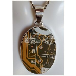 Jewelry - Circuit Board Computer Chip Pendant/Necklace